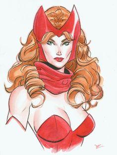 Scarlet Witch watercolor by MichaelDooney.deviantart.com on @deviantART