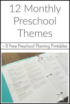 Thoughts on Preschooling + Free Preschool Planning Printables - Pig & Dac - Curriculum - 12 Monthly Preschool Themes with 8 free printables for your preschool binder - Preschool Binder, Preschool Schedule, Preschool Lesson Plans, Preschool At Home, Free Preschool, Preschool Kindergarten, Preschool Learning, Monthly Themes For Preschool, Preschool Ideas