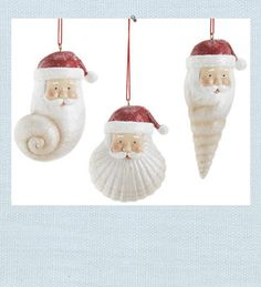 shell santa ornament