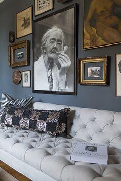 charcoal gray walls bedroom - Google Search