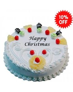 Order Cake Online Christmas Pineapple Same Day Delivery