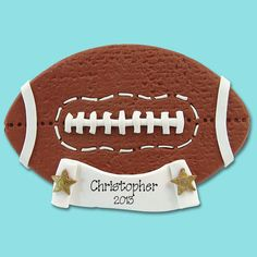 Football Personalized Christmas Ornament  by PersonalizedOrnament