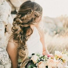 Wedding Hairstyles from Hair & Makeup by Steph, HAİR STYLE, These pretty wedding hairstyles form Hair & Makeup by Steph are all we could ever want when it comes to bridal beauty. This Utah-based stylist does th. Wedding Hairstyles For Long Hair, Wedding Hair And Makeup, Up Hairstyles, Braided Hairstyles, Hair Makeup, Hair Wedding, Makeup Hairstyle, 2017 Wedding, Hairstyle Ideas