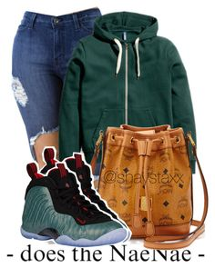 """aug 16th,2016"" by heroinmother ❤ liked on Polyvore featuring MCM and NIKE"