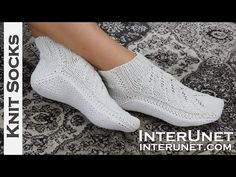 Free Knitting Patterns For Bed Socks Free Knitting Patterns For Bed Socks. Free Knitting Patterns For Bed Socks Three Stories High Cable Twist Bed Soc. Knitted Slippers, Crochet Slippers, Knitting Patterns Free, Free Knitting, Two Needle Socks, Bed Socks, Yoga Socks, Patterned Socks, Knitting Videos