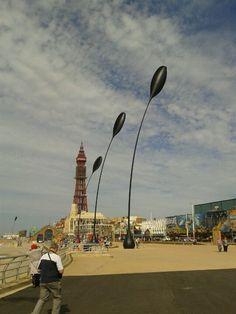 Blackpool promenade   i like the wobbly arrow blobs!