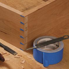 How to Cut Perfect Dovetails with Tape! For more woodworking tips visit http://www.handymantips.org/category/woodworking/