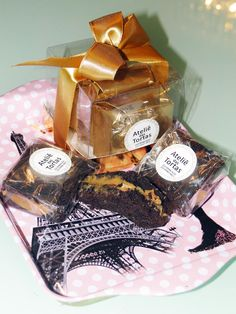 press kit Ateliê das Tortas, caixas de brownies!! | Blog da Michelle Mayrink