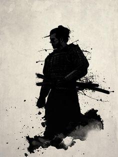 Pintura del samurai
