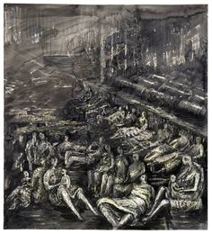A Tilbury Shelter Scene  1941 by Henry Moore