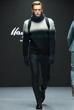 Hardy Amies Fall 2015 Menswear - Collection - Gallery - Style.com OMBRE STRIPE SWEATER