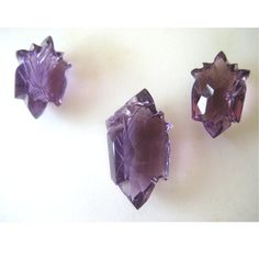 Amethyst 3 Piece Set  Hand Carved  Focal Pendant by gemsforjewels, $40.10