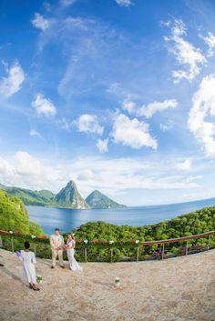 Celestial Terrace Wedding, Jade Mountain Resort, St Lucia