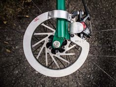 Killer Disc Brake Guard (for bike polo).  It's pretty cool, looking forward to seeing the stainless steel version too via Urban Velo.