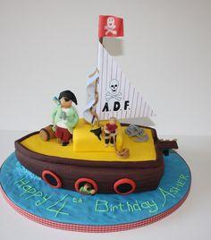 Fishing Boat Birthday Cake Sweet Sweets Pinterest Boat Cake - Boat birthday cake ideas