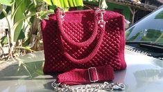 booble crochet bag Size : 27 X 10 X 20  Material: Polychery  colour : Maroon   #CrochetBag
