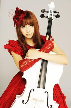 cello Goth player asian
