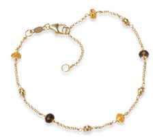 Gemstone Ankle Bracelet