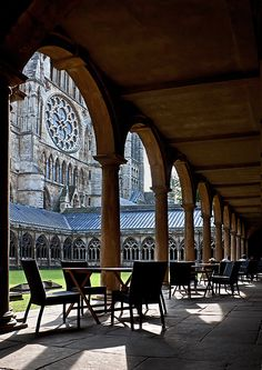 Lincoln cathedral cloisters - Lincoln, Lincolnshire