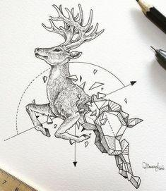Эскизы геометрических животных • Рисунки Kerby Rosanes