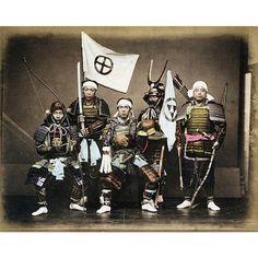 """A photo of Satsuma Samurai in armor from Kusakabe Kimbei's collection of 19th century photos of Japan  #KusakabeKimbei #日下部金兵衛 #yokohama #edo #tokyo #江戸…"""