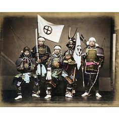 """A photo of Satsuma Samurai in armor from Kusakabe Kimbei's collection of 19th century photos of Japan  #KusakabeKimbei #日下部金兵衛 #yokohama #edo #tokyo #江戸…"""