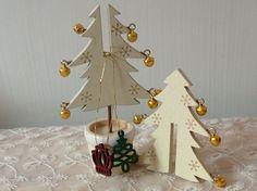 セリア☆木製のクリスマスツリー&オーナメント♪:☆いちごハウス☆