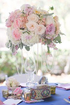Vintage style wedding centerpiece by Haute Floral, Dallas, TX www.hautefloral.com, Nine Photography, Rent My Dust, & Southern Affairs