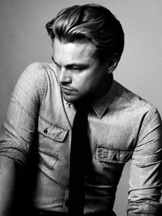 Black and white portrait of Leonardo DiCaprio via GQ Australia.  Photography by Craig McDean.