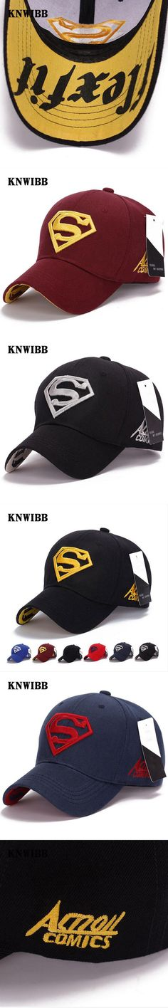 2017 KNWIBB Brand Baseball cap Men And Women Superman embroidery Diamond pattern Hat outdoor sports hat Snapback cap casquette