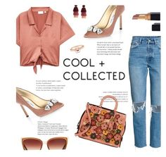 """""""Cool Chick"""" by lisalockhart ❤ liked on Polyvore featuring Jimmy Choo, Coach 1941, Barton Perreira and Marie Mas"""