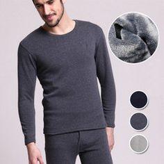 Men's Seamless Velevt Thermal Shapewear Set