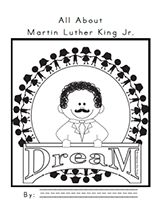 """FREE MLK / Black History Month Big Book - Great for """"All About,"""" introduction and teaching features of informational text! mandyfyhrie.com"""