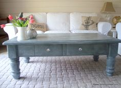 Restyled Vintage: Industrial Style Zinc Coffee Table