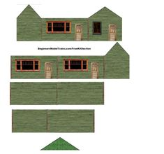 6 Best Images of Free Printable HO Scale Houses - Free Printable HO Scale Buildings, Free Printable HO Scale Buildings Plans and Printable Paper House Models Model Building, Building Plans, Building Design, Building A House, N Scale Train Layout, Model Train Layouts, N Scale Buildings, Printable Paper, Free Printable