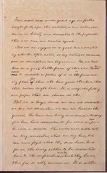 The Gettysburg Address.  Worth rereading.