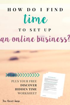 """One of the biggest questions I get from stay-at-home moms when it comes to starting an online business is: """"How do I find the time??"""" The answer isn't always so obvious… but with a few tweaks of your daily life, you can do it! Click through to read how I have found 6-9 hours per week to devote to creating my dream business PLUS get your free worksheet to uncover your missing pockets of time!"""