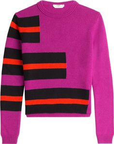 If you're not quite ready to sacrifice bright summer hues for neutrals and greys just yet, a bold color-blocked knit is a positive way to ease into autumn dressing, especially when it comes in plush cashmere like this statement-making Fendi version.   | styloko.com