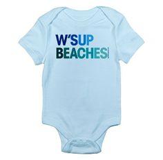 """W'sup Beaches"" #Baby Bodysuit by Pamela Fugate Designs"