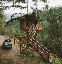 Venture far enough into Northern California's Six Rivers National Forest and you'll reach Dan's rustic treehouse, part of a remote village…
