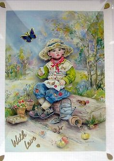 Picnic Lunch  HandCrafted 3D Decoupage Card  With by SunnyCrystals, £1.35