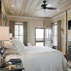 Hatteras Cottage - Reclaimed Beadboard Ceiling
