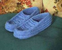 Crocheted Slippers Moccasin Style | AllFreeCrochet.com