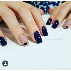 Elegant Nails, Classy Nails, Stylish Nails, Simple Nails, Blue Nails, My Nails, Fall Nails, Nail Manicure, Nail Polish