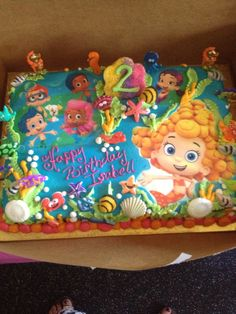 Isabell's Bubble Guppies Birthday cake! Thanks to H.F.Hornberger bakery!