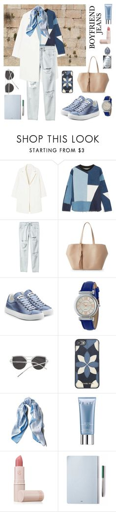 """""""Ella's Daily"""" by maykarsy ❤ liked on Polyvore featuring MANGO, Victoria, Victoria Beckham, RVCA, Street Level, Jil Sander, Michael Kors, Asprey, Orlane, Lipstick Queen and The Idle Man"""