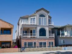 6 br Newport Beach Home Vacation Rental: Large Six Bedroom Oceanfront Between the Piers! Newport Beach House, Newport Beach California, Vacation Rental Sites, Beach Vacation Rentals, Vacations, Beach Houses For Rent, Beach Condo, Condominium, Ideal Home