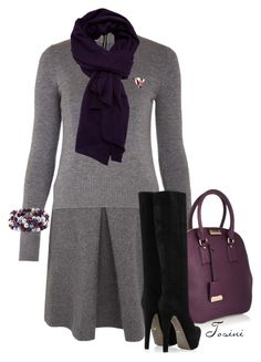 """""""Wintertime"""" by tosini ❤ liked on Polyvore featuring Victoria, Victoria Beckham, Burberry, Haider Ackermann, Sergio Rossi and Honora"""