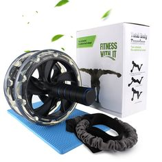 Rams Bro Ab Roller Wheel Abdominal Exercise Equipment Pro Abdominal Workout & Core Fitness Trainer with Anti-Slip Handles Knee Pad and Pull Rope – Get 6 Pack Abs – Health and Fitness Abdominal Workout, Abdominal Exercises, Ab Trainer, Ab Roller, 6 Pack Abs, Ab Wheel, Best Abs, Exercise Equipment, Bro