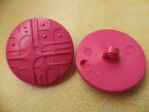 10 KNÖPFE pink 21mm (6316-3) Jackenknöpfe Knopf